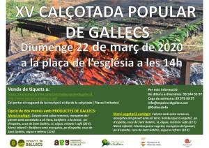 ANUL·LADA CALÇOTADA POPULAR DE GALLECS 22 DE MARÇ DE 2020